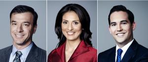 Miguel Marquez, Rosa Flores and Polo Sandoval