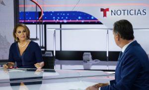 Maria Elena Salinas on Telemundo