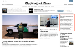 Final NYT en Espanol front page 9-17-19