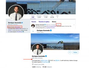 Enrique Acevedo Twitter account